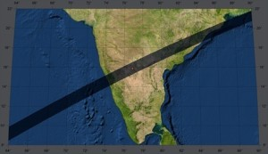 February 16, 1980, the path of totality across India (Image courtesy zam.fme.vutbr.cz)