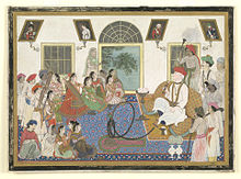 Watercolour by an anonymous Delhi artist of Sir David Ochterlony in Indian dress smoking a hookah ca. 1820s. (by courtesy of Wikipedia)